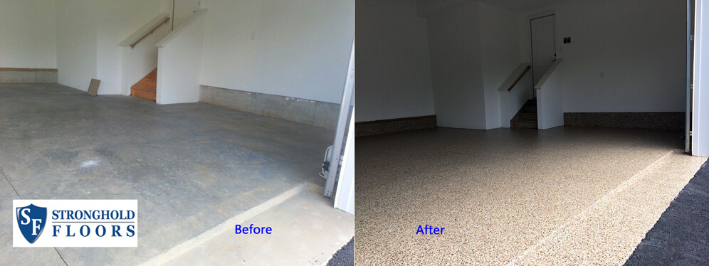Garage Floor Coatings enhance this Kingsville, Maryland garage (near Bel Air).