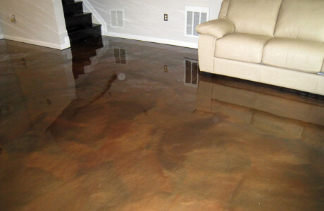 metallic epoxy basement floor maryland