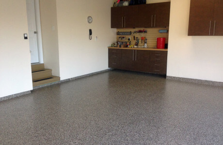 Ashburn Virginia epoxy coatings on garage floor