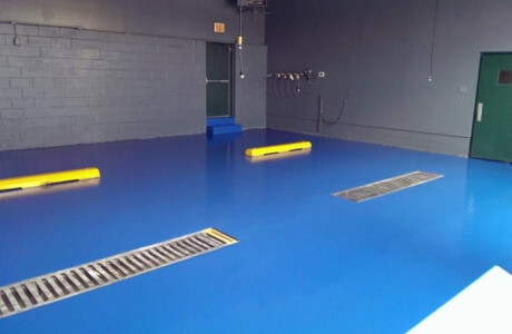 Epoxy coatings in the ambulance bays in Coatesville.