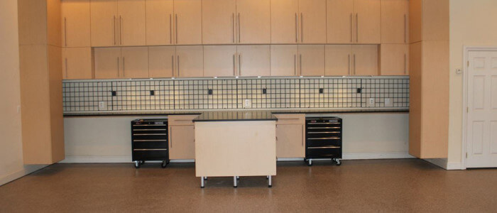 Garage floor coatings, cabinetry & organizers in Fairfax county, Virginia.