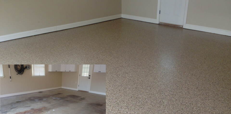 Epoxy Before And After : Garage floors in ellicott city parkville and columbia