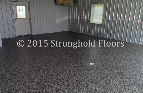 Epoxy Garage Floor in Seven Valleys, York County, PA by Stronghold Floors.