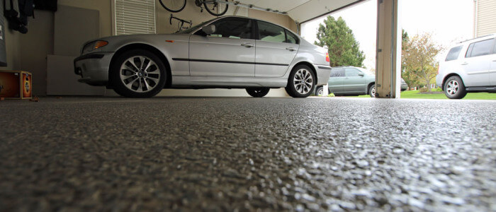 Lancaster garage gets epoxy floor coatings from Stronghold Floors.