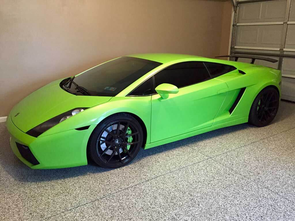 Mechanicsburg Garage With Lamborghini On Epoxy Coatings