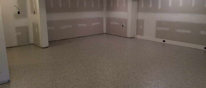 Germantown basement creates awesome home gym with epoxy coatings.