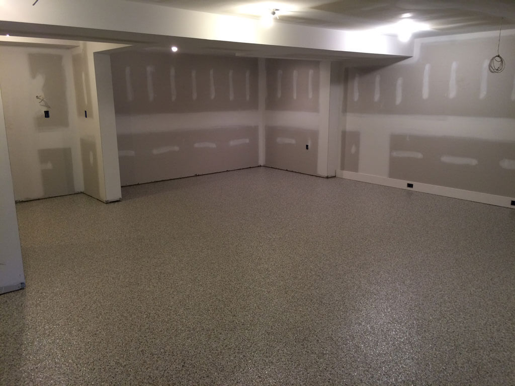 Basement epoxy flooring in germantown md for Floor to the floor
