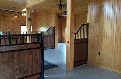 Clarksville MD barn features garage floor coatings by Stronghold Floors.