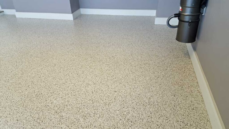 Professional epoxy coatings installed in Reisterstown by Stronghold Floors.