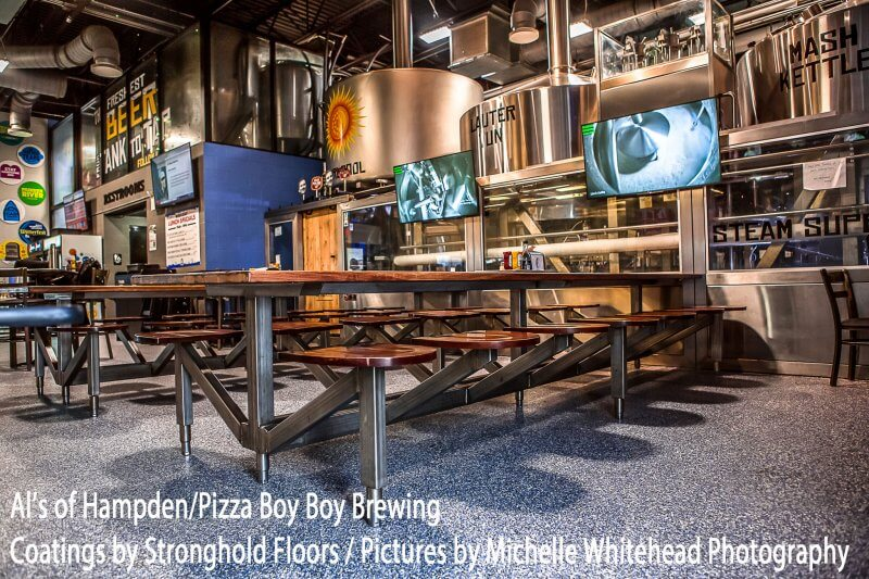 Epoxy coatings in a Harrisburg brewery and restaurant