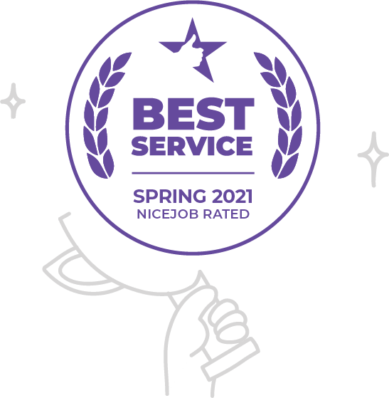 We won the NiceJob Rated Award for Best Service - Spring 2021